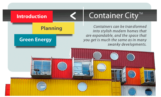 Image for link to a website we love, Container City!